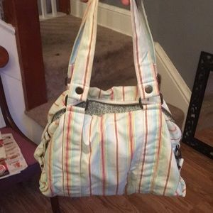 Handbags - Striped canvas purse